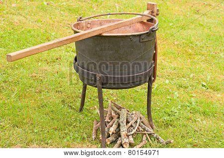 Antique Cast Iron Cook Pot