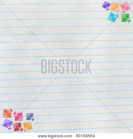 Kites On Notebook Paper, Makar Sankranti Concept