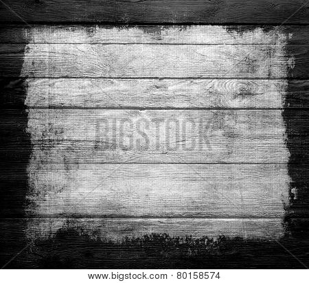 grunge old wood texture background with black frame