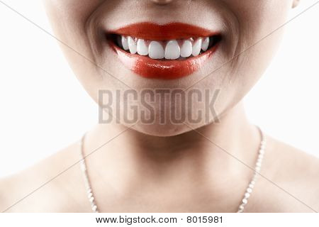 Grinning Woman Face