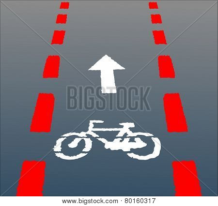 bicycle lane,bicycle sign