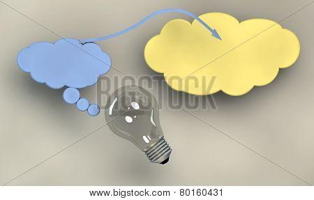 Light Bulb And Symbols