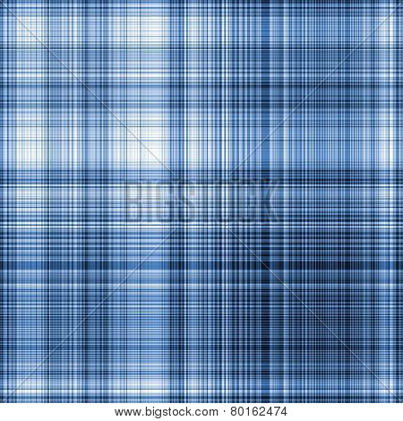 Gingham Texture In Blue Spectrum