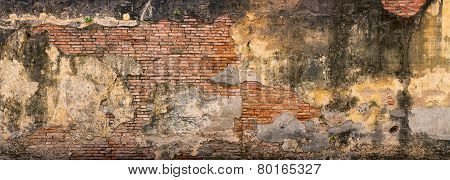 Old Crumbling Brick Wall