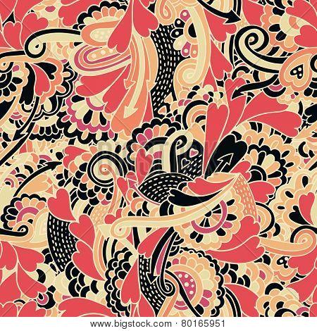 valentine crazy seamless pattern