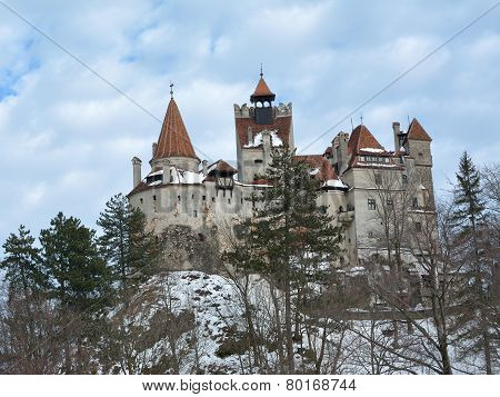 Dracula's Bran Castle In Winter