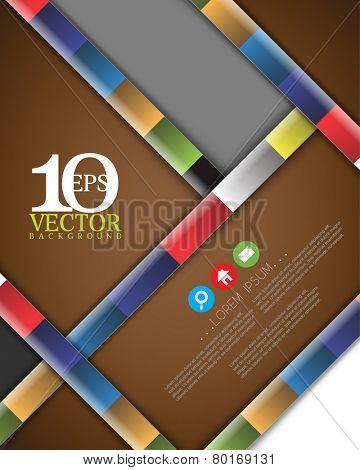 eps10 vector cartoon diagonal thick bar multicolored lines concept background design