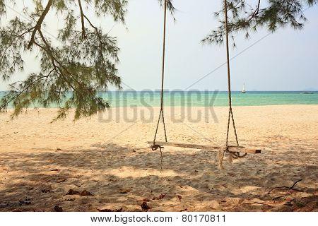 Swing At Seaside