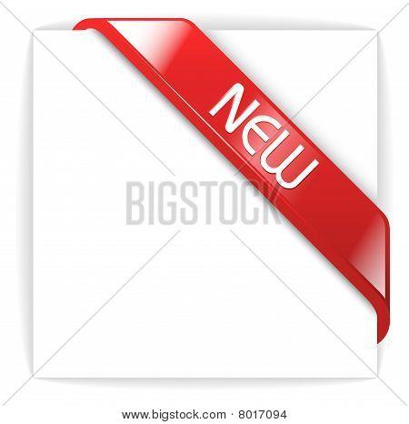 New Glassy Red Corner Ribbon