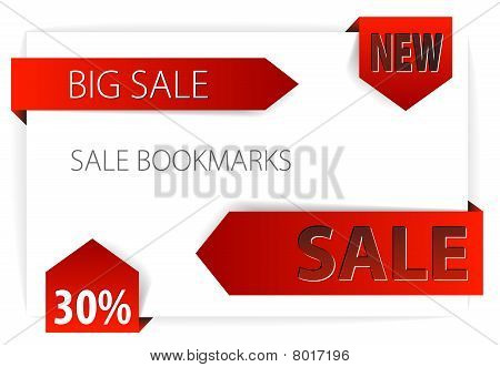 Red Paper Arrows / Sale Tags