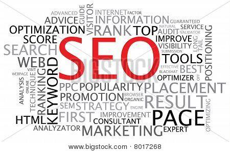 SEO - cartel de optimización de motor de búsqueda
