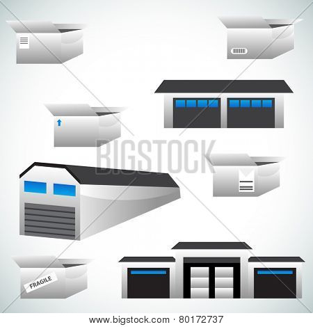 An image of warehouse icons.