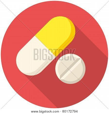 Vitamin Pills Icon