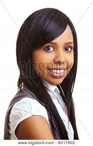 Content African Woman