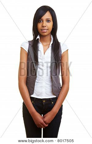 Young African Woman Standing