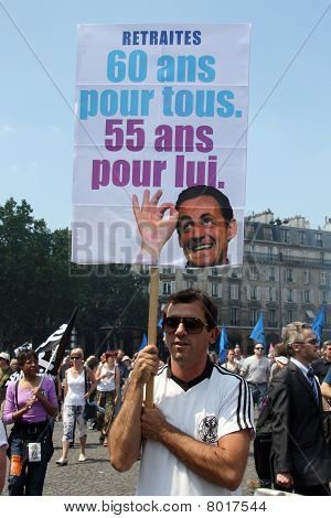 People Demonstrate In Paris