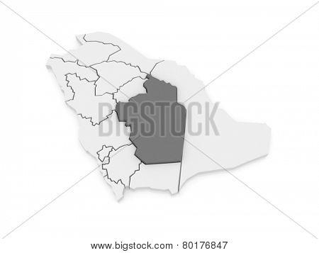 Map of Riyadh. Saudi Arabia. 3d