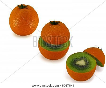 Ripe Oranges Inside As The Kiwi