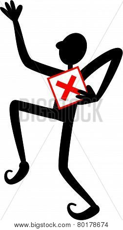 Red Check Box Man