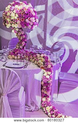 Romantic Arrangement At One Festive Table