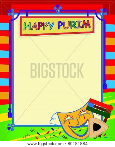 Purim Blank Sign