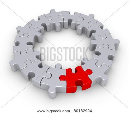 Puzzle Pieces And One Different