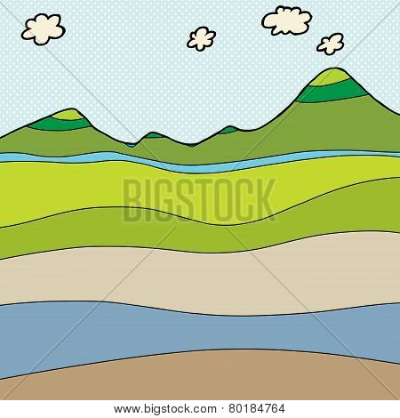 Mountain Cross Section Graphic