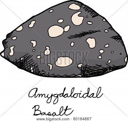 Igneous Basalt Rock Sample