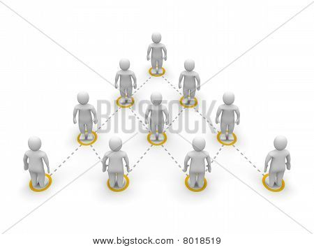 Leader on top of team hierarchy