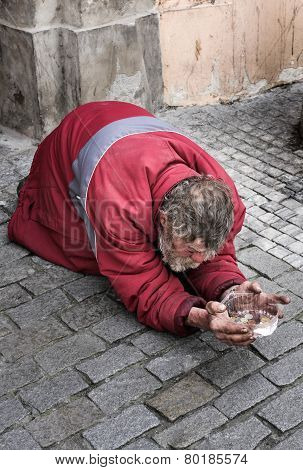 Beggar in the Old Town