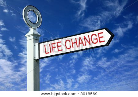 Wooden Finger Post Life Change Sign