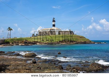 View Of Farol Da Barra In Salvador, Bahia, Brazil