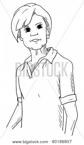 vector - Young man - isolated on background