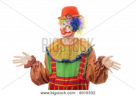 Portrait Of A Clown. Isolated