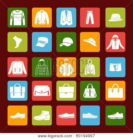 Men's Clothes And Accessories Icons