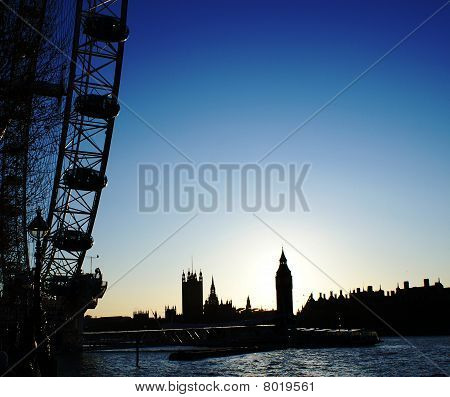 Big Ben and Big Wheel