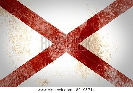 Grunge of Alabama flag