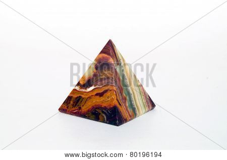 Souvenir From Onyx Pyramid On White Background