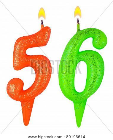 Birthday Candles Number Fifty Six
