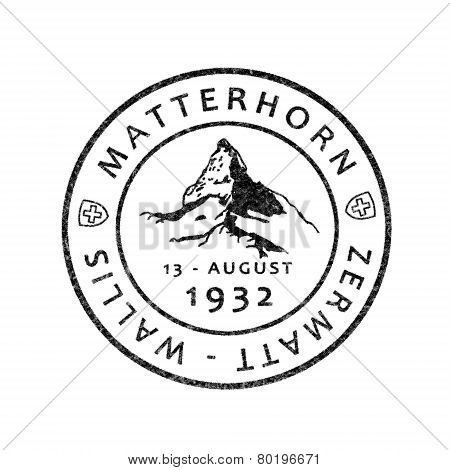 Historic Postmark Matterhorn