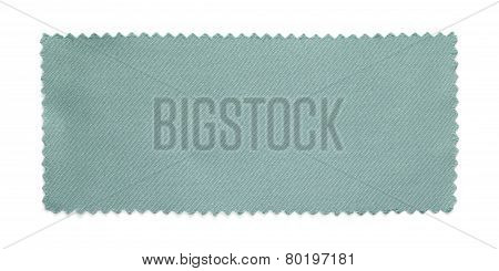Gray Fabric Swatch Samples Isolated On White Background