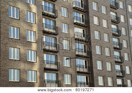 Windows and balconies