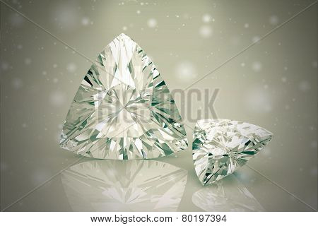 Diamond Jewel ,high Resolution 3D Image, Vintage Style