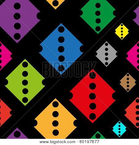 Color rhombuses with holes