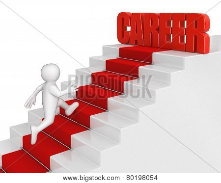 businessman run to career