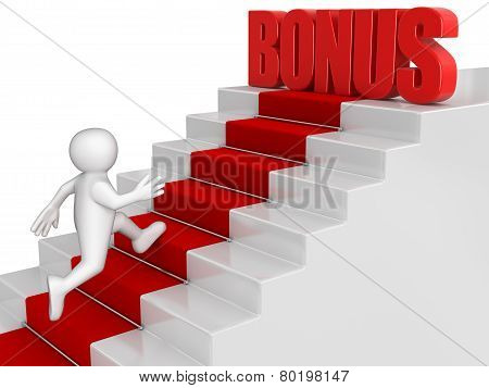 businessman run to Bonus
