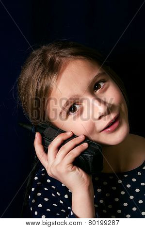 Teenager On A Cellular Phone