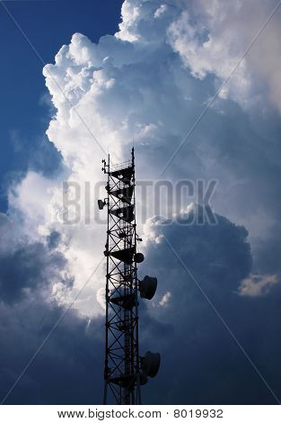 Antenna And Thunderclouds