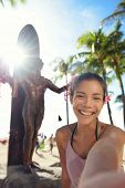 stock photo of waikiki  - Waikiki Beach Tourist in Honolulu on Oahu - JPG