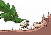 foto of dinosaur-eggs  - a cute funny cartoon fantasy dragon egg thief - JPG